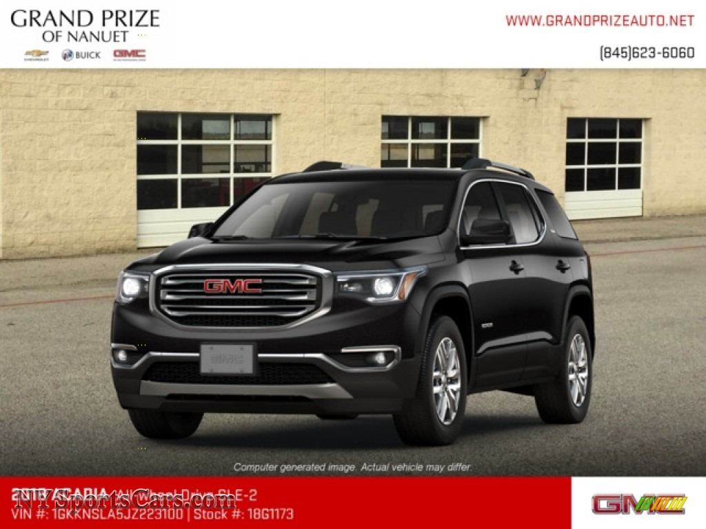 2018 Acadia SLE AWD - Ebony Twilight Metallic / Jet Black photo #1