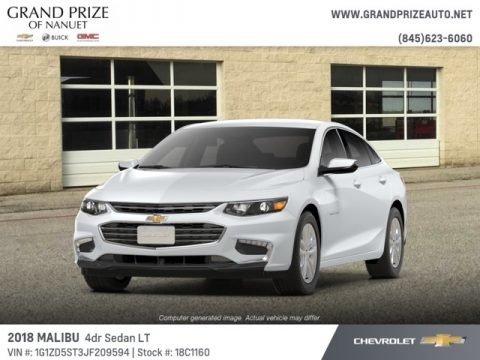Summit White 2018 Chevrolet Malibu LT