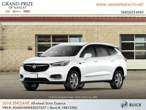 Summit White 2018 Buick Enclave Essence AWD