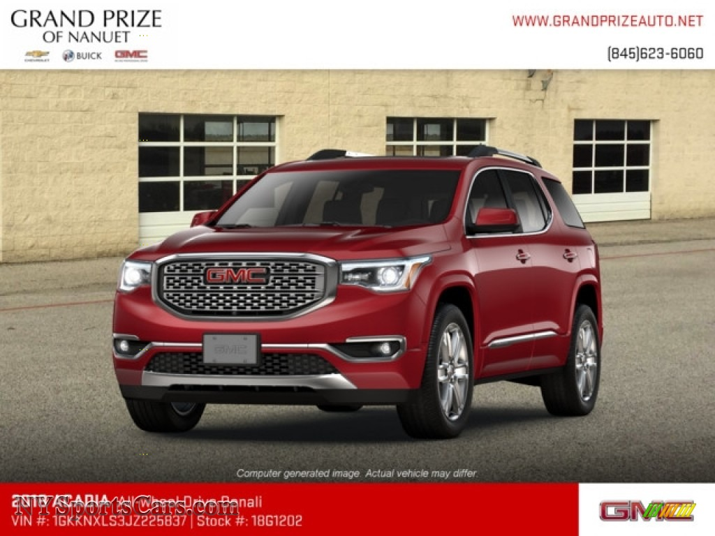 2018 Acadia Denali AWD - Crimson Red Tintcoat / Jet Black photo #1