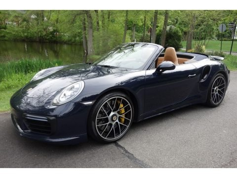 Night Blue Metallic 2018 Porsche 911 Turbo S Cabriolet