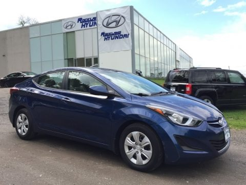 Blue 2016 Hyundai Elantra SE