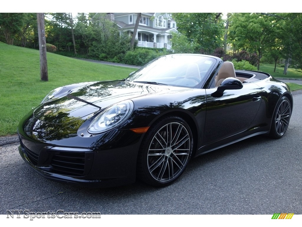 2017 911 Carrera 4S Cabriolet - Black / Black/Luxor Beige photo #1