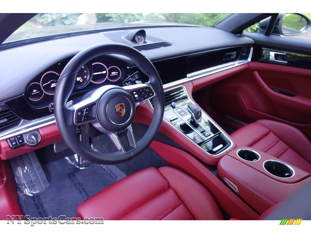 2017 Panamera 4S - Agate Grey Metallic / Black/Bordeaux Red photo #10
