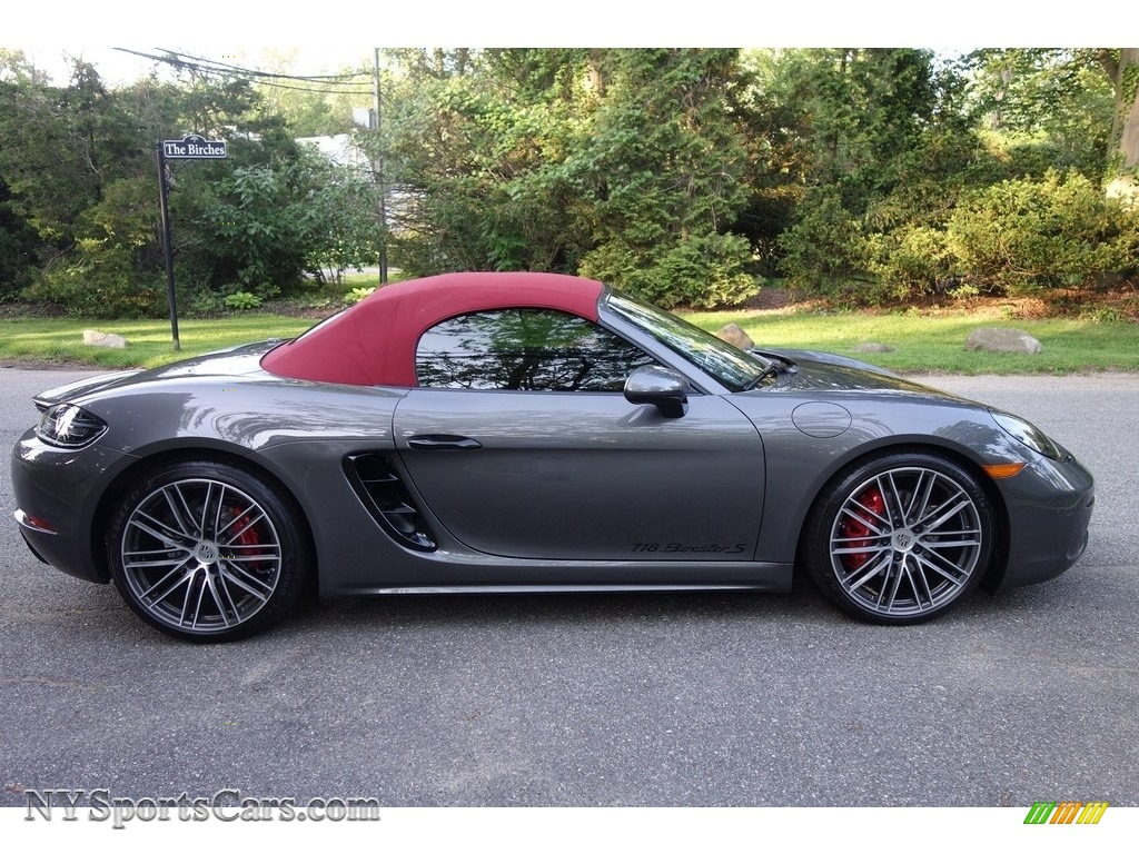 2017 718 Boxster S - Agate Grey Metallic / Black/Bordeaux Red photo #7