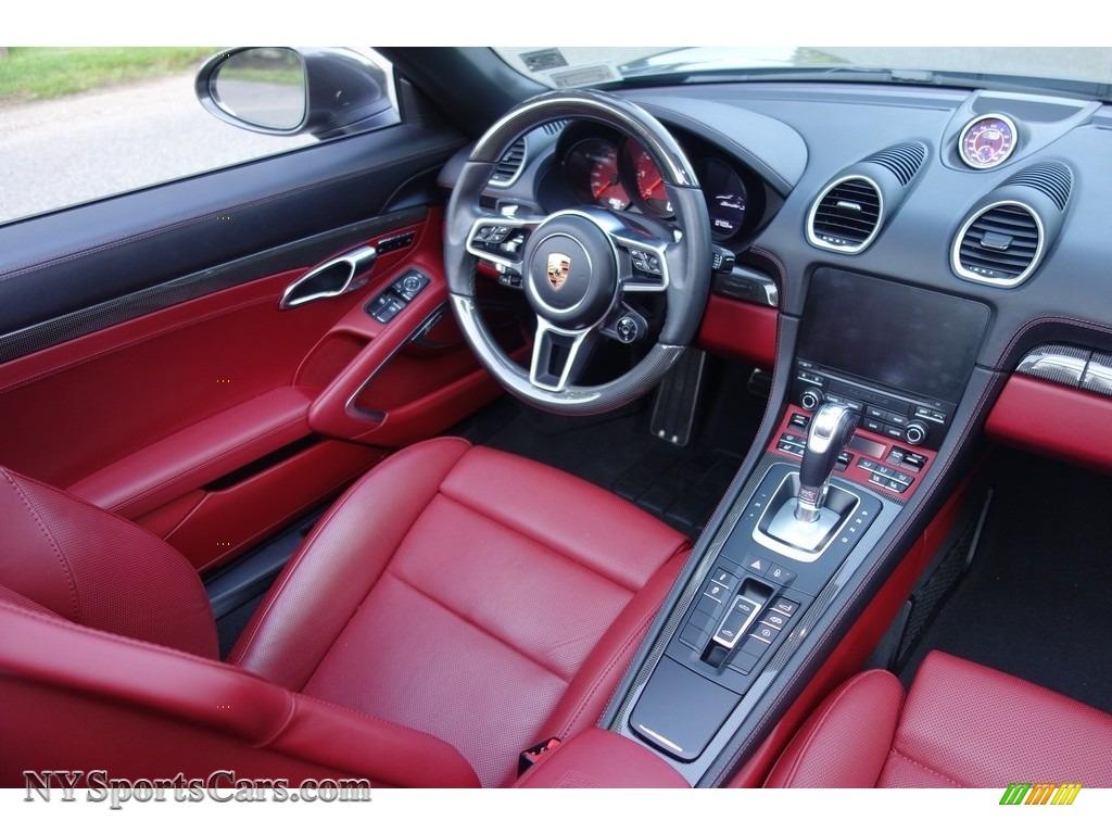 2017 718 Boxster S - Agate Grey Metallic / Black/Bordeaux Red photo #14
