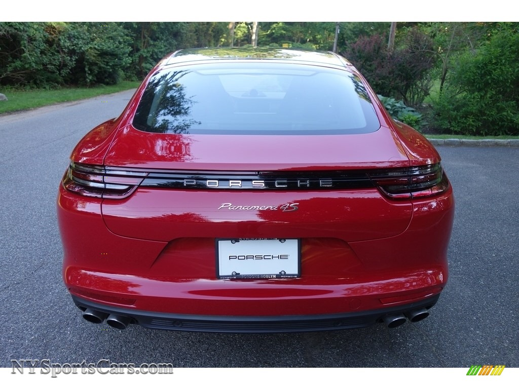 2018 Panamera 4S - Carmine Red / Saddle Brown photo #5