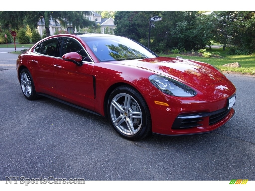 2018 Panamera 4S - Carmine Red / Saddle Brown photo #8