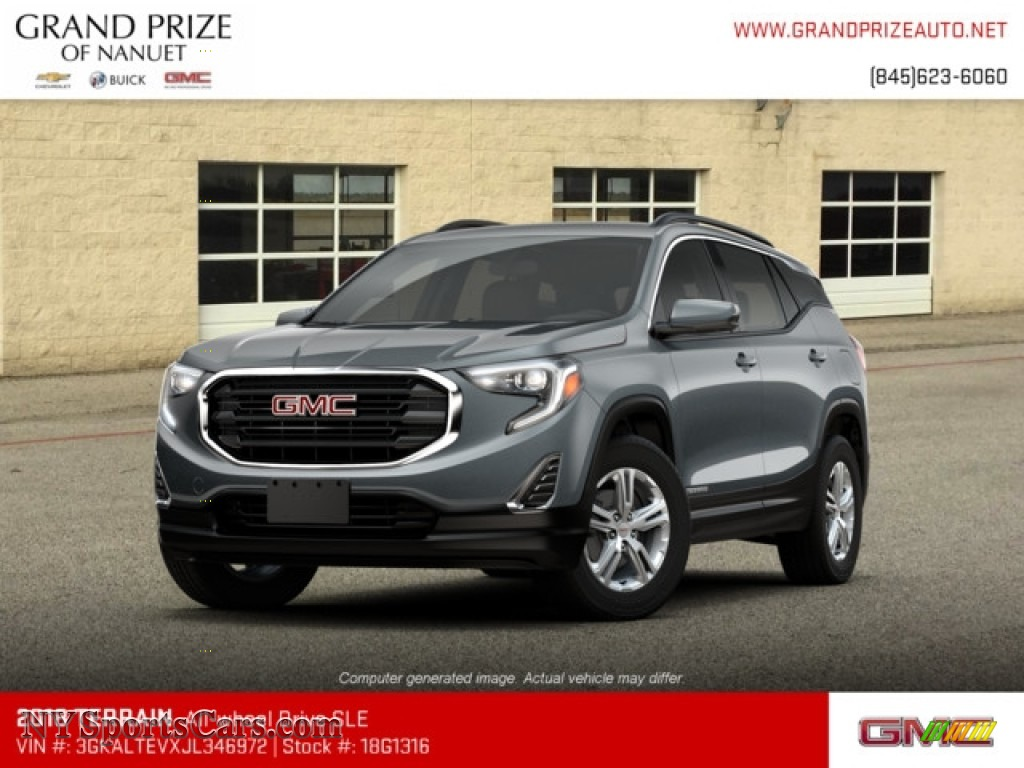 2018 Terrain SLE AWD - Graphite Gray Metallic / ­Jet Black photo #1