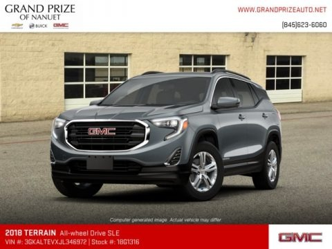 Graphite Gray Metallic 2018 GMC Terrain SLE AWD