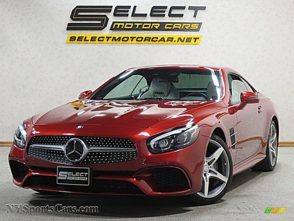 2017 SL 550 Roadster - designo Cardinal Red Metallic / Ginger Beige/Espresso Brown photo #1
