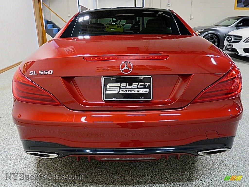 2017 SL 550 Roadster - designo Cardinal Red Metallic / Ginger Beige/Espresso Brown photo #10