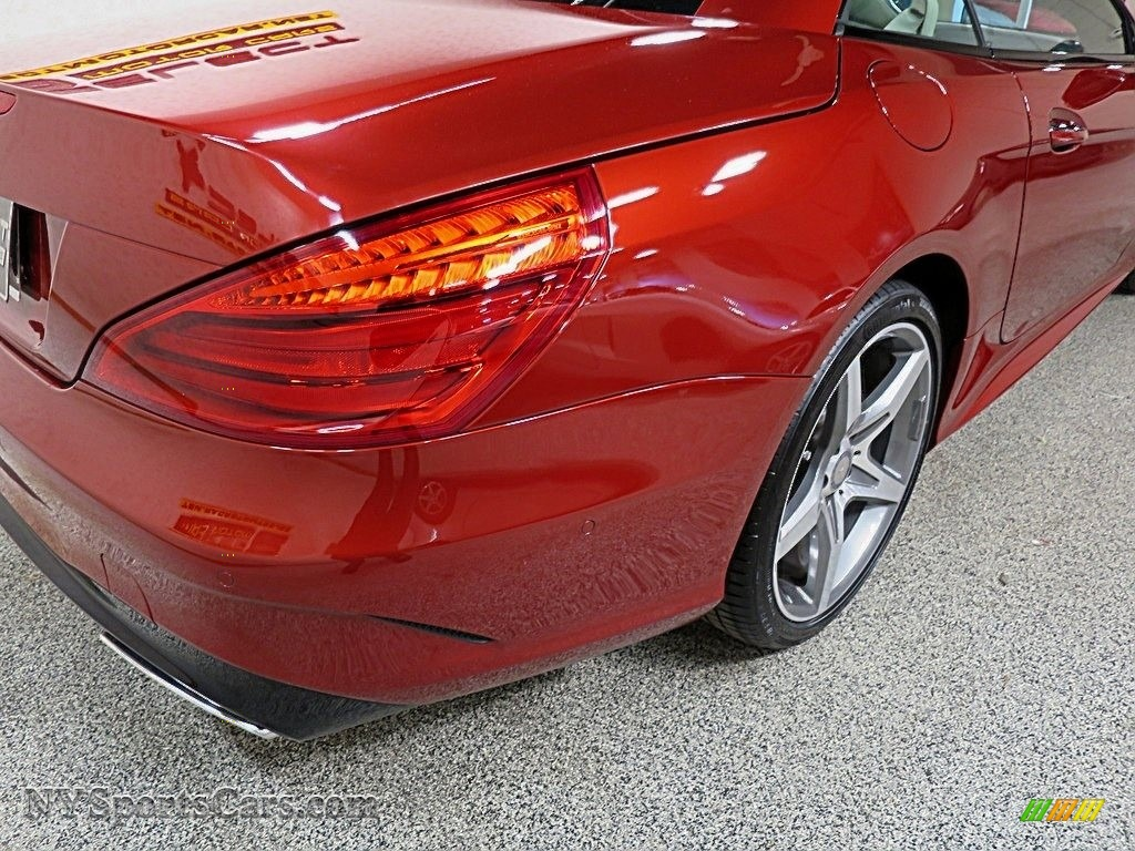 2017 SL 550 Roadster - designo Cardinal Red Metallic / Ginger Beige/Espresso Brown photo #11