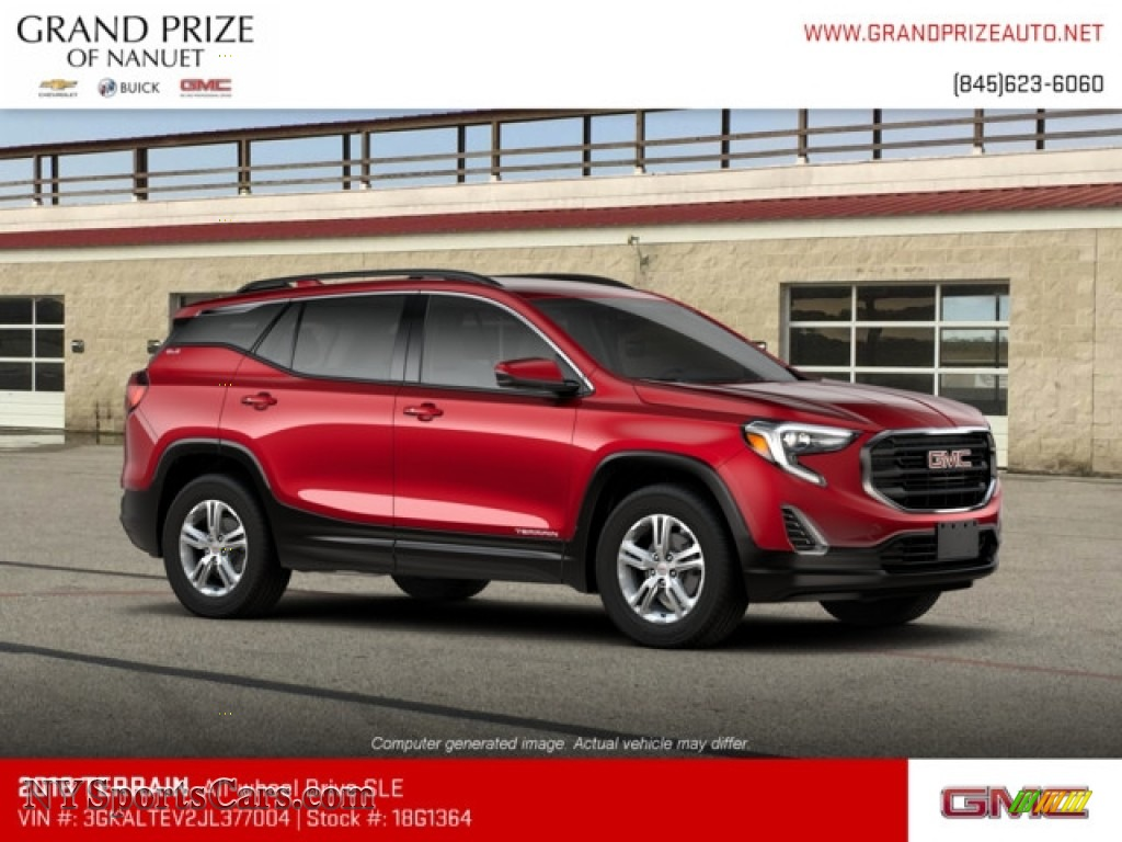 2018 Terrain SLE AWD - Red Quartz Tintcoat / ­Jet Black photo #4