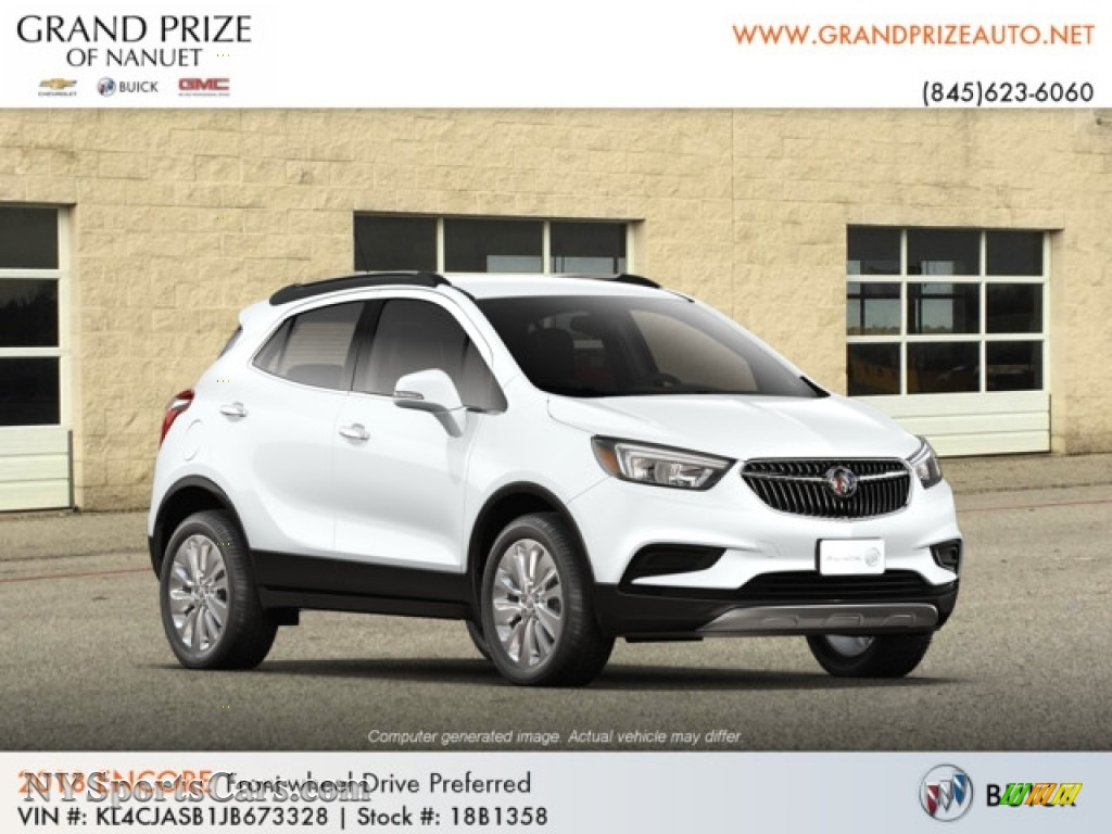 2018 Encore Preferred - Summit White / Ebony photo #4