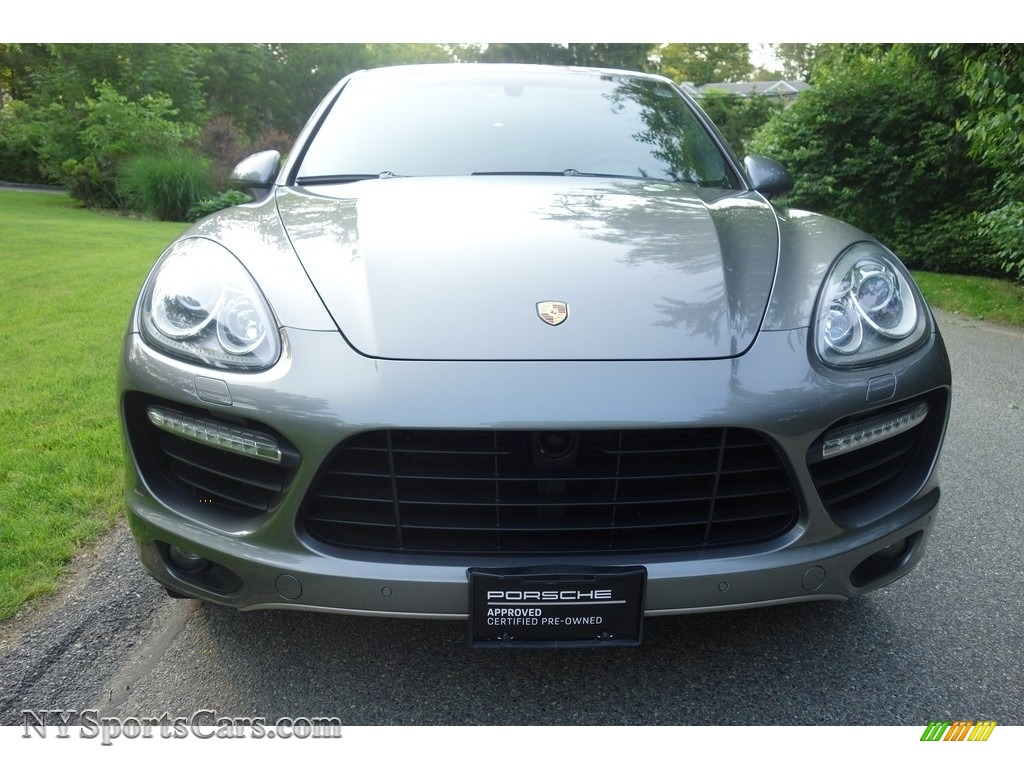 2011 Cayenne Turbo - Meteor Grey Metallic / Black photo #2