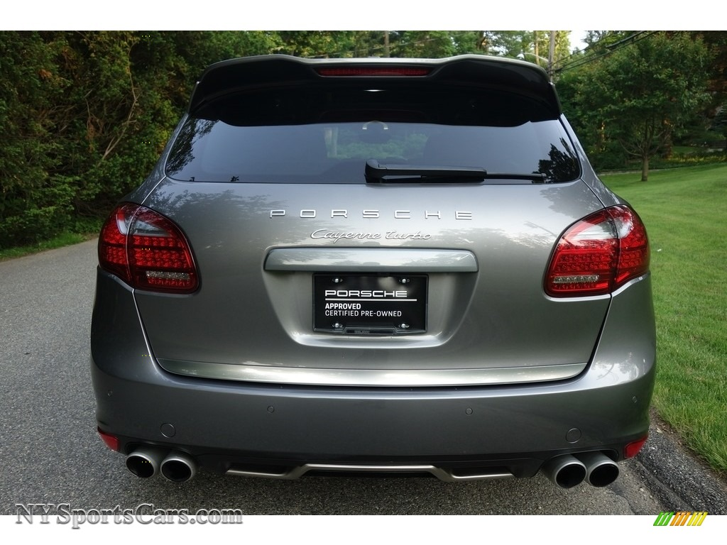 2011 Cayenne Turbo - Meteor Grey Metallic / Black photo #5