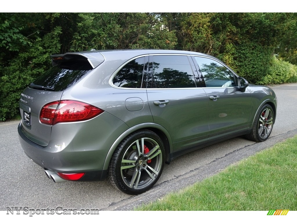 2011 Cayenne Turbo - Meteor Grey Metallic / Black photo #6