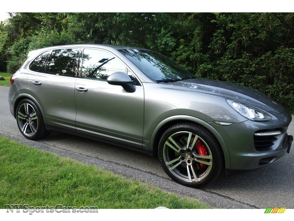 2011 Cayenne Turbo - Meteor Grey Metallic / Black photo #8