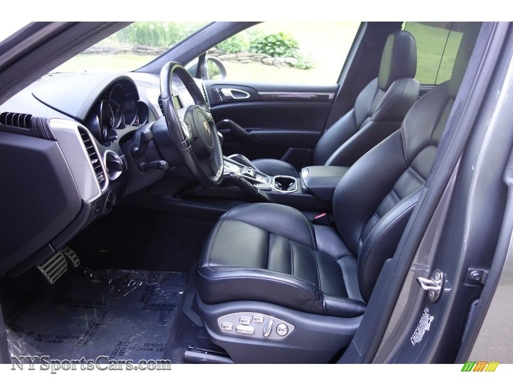 2011 Cayenne Turbo - Meteor Grey Metallic / Black photo #12