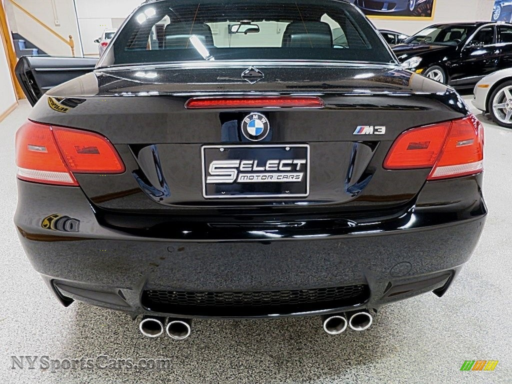 2008 M3 Convertible - Jet Black / Black photo #6