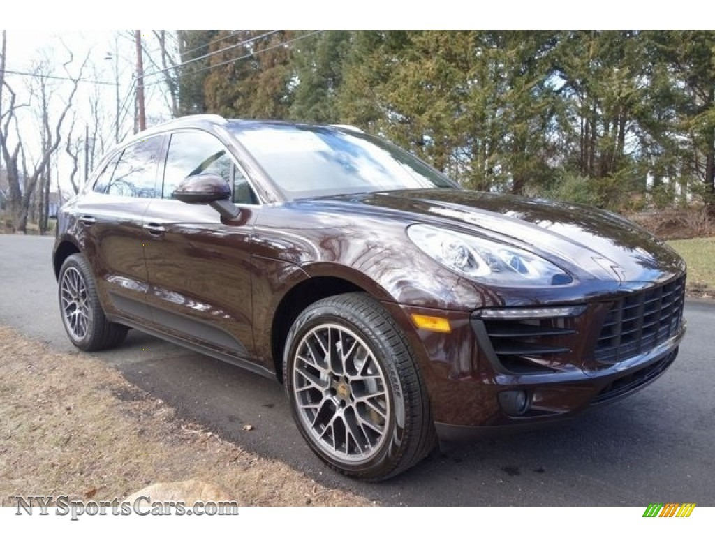 2018 Macan S - Mahogany Metallic / Black/Luxor Beige photo #1