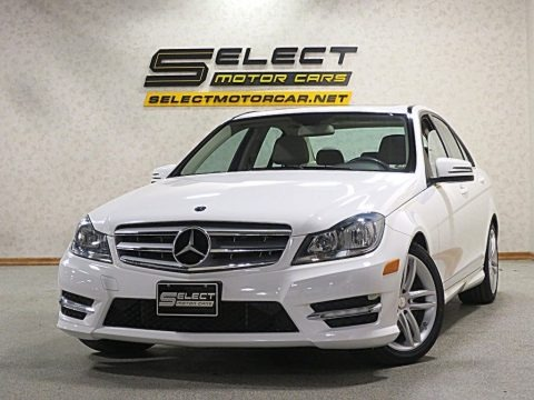 Polar White 2013 Mercedes-Benz C 300 4Matic Sport