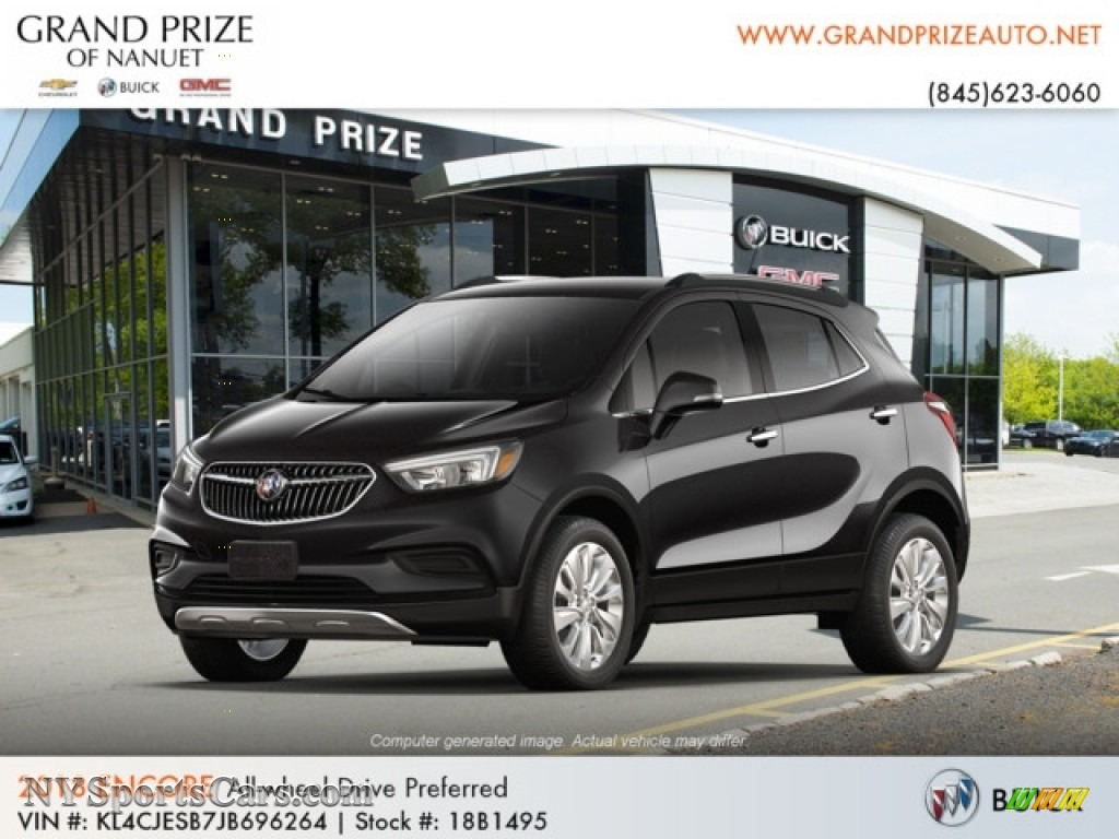 2018 Encore Preferred AWD - Ebony Twilight Metallic / Ebony photo #1