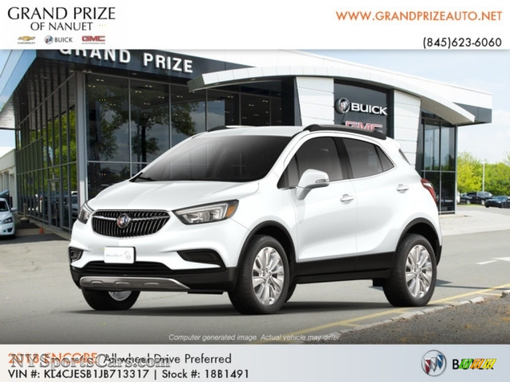 Summit White / Ebony Buick Encore Preferred AWD