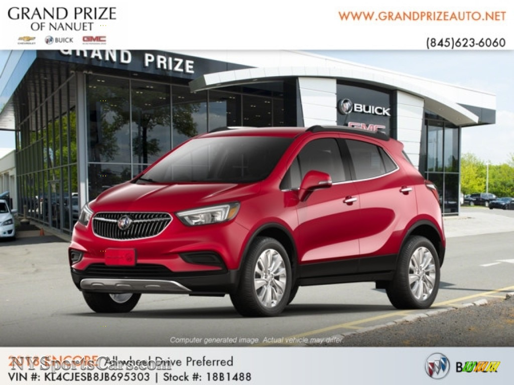 Winterberry Red Metallic / Ebony Buick Encore Preferred AWD