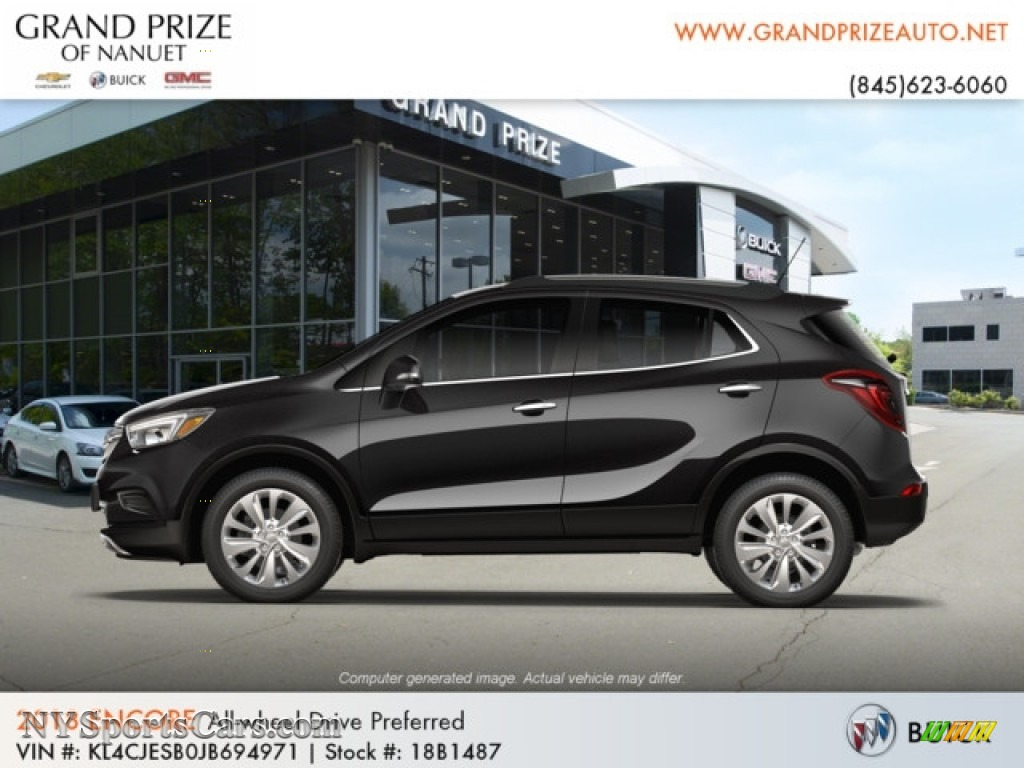 2018 Encore Preferred AWD - Ebony Twilight Metallic / Ebony photo #2
