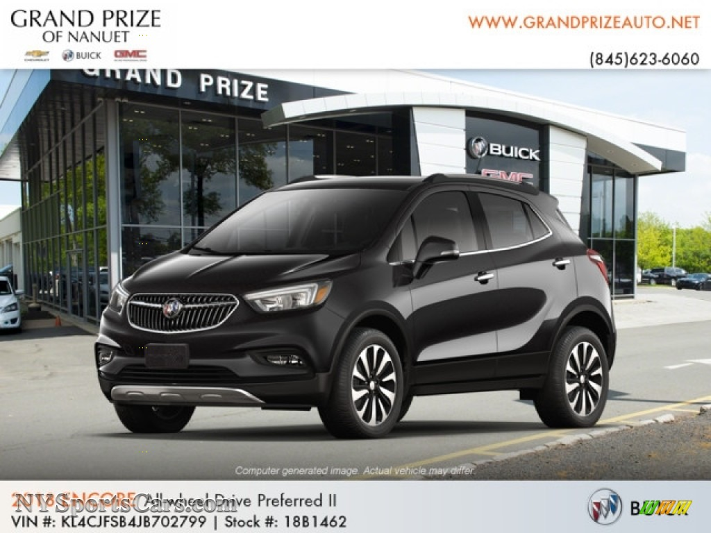 2018 Encore Preferred II AWD - Ebony Twilight Metallic / Ebony photo #1