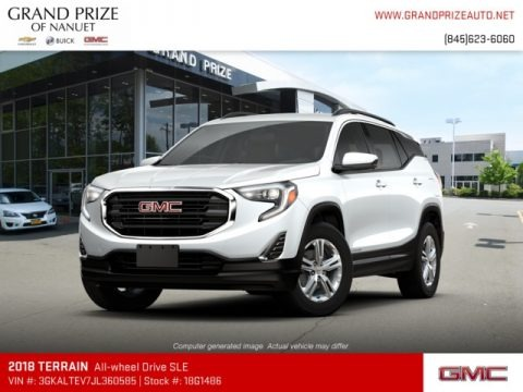 Summit White 2018 GMC Terrain SLE AWD