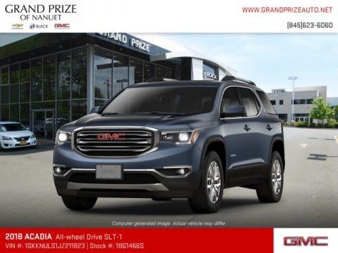 Blue Steel Metallic 2018 GMC Acadia SLT AWD