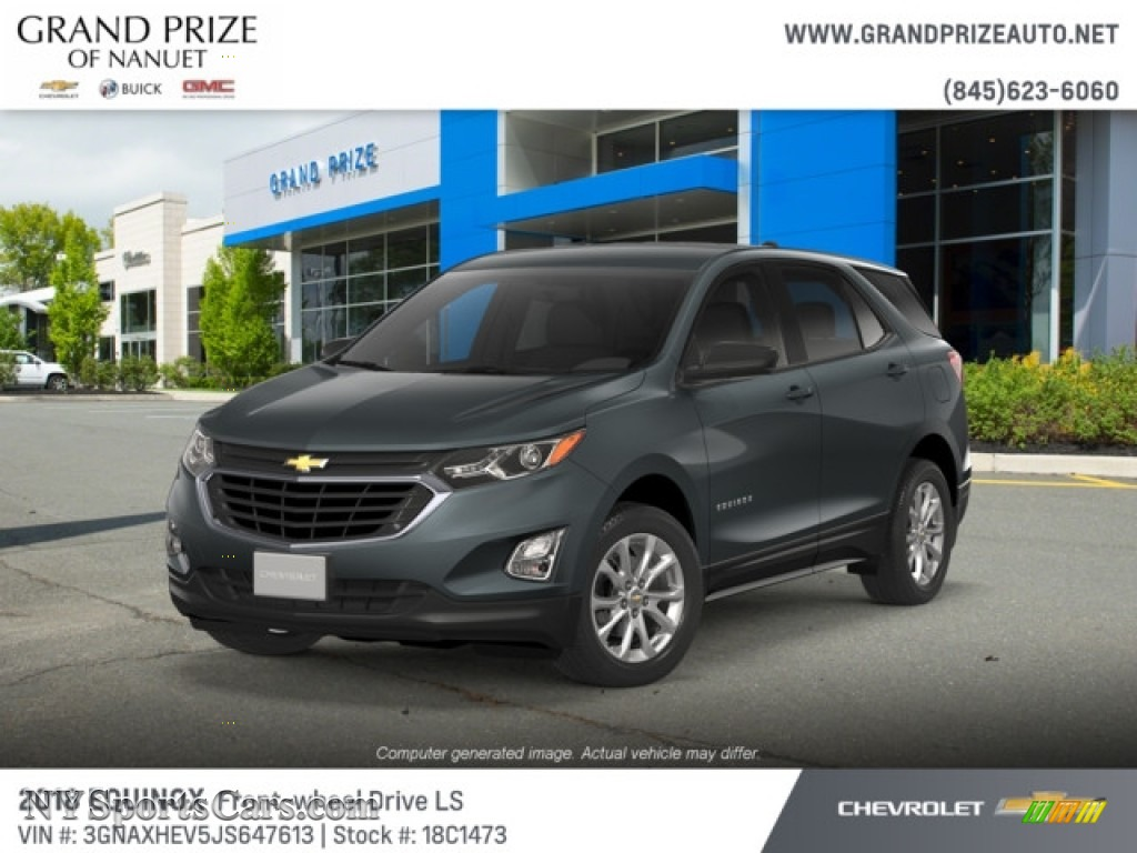 2018 Equinox LS - Nightfall Gray Metallic / Medium Ash Gray photo #1