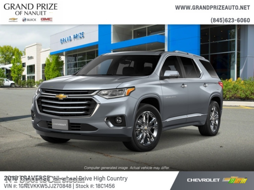 2018 Traverse High Country AWD - Satin Steel Metallic / High Country Jet Black/Loft Brown photo #1