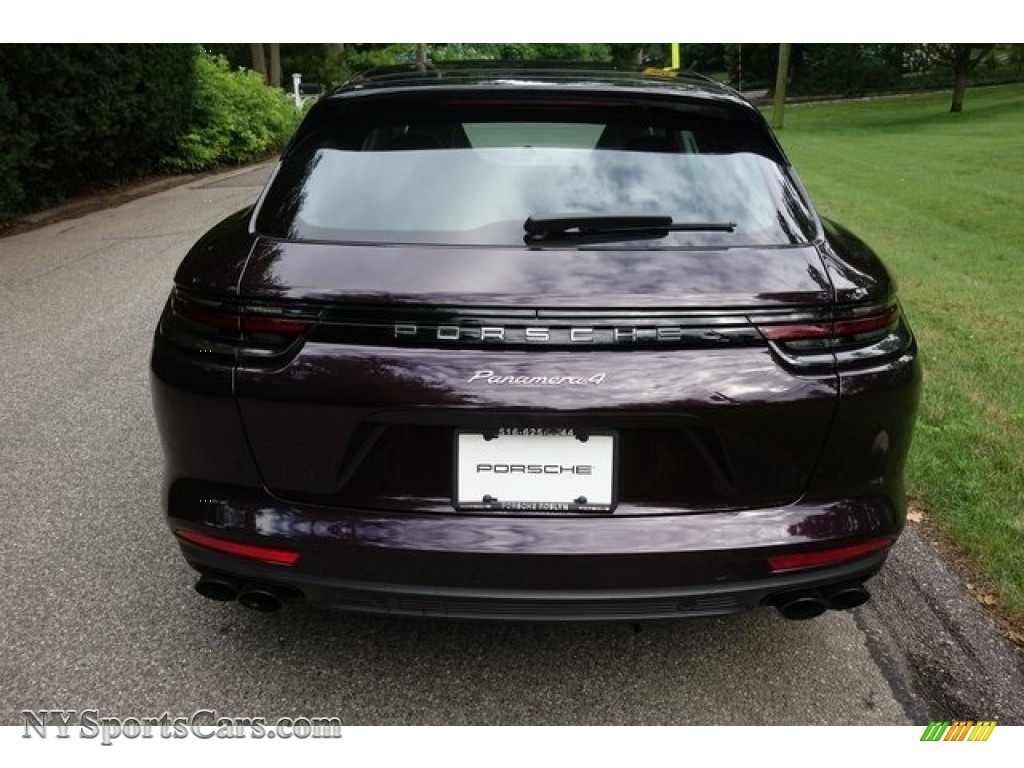 2018 Panamera 4 Sport Turismo - Amethyst Metallic / Black/Chalk photo #5