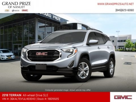 Satin Steel Metallic 2018 GMC Terrain SLE AWD