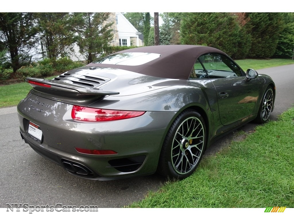 2015 911 Turbo S Cabriolet - Agate Grey Metallic / Espresso/Cognac Natural Leather photo #6