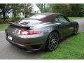 Porsche 911 Turbo S Cabriolet Agate Grey Metallic photo #6