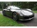 Porsche 911 Turbo S Cabriolet Agate Grey Metallic photo #8