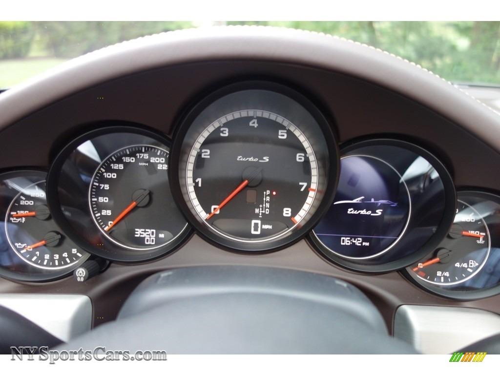 2015 911 Turbo S Cabriolet - Agate Grey Metallic / Espresso/Cognac Natural Leather photo #16