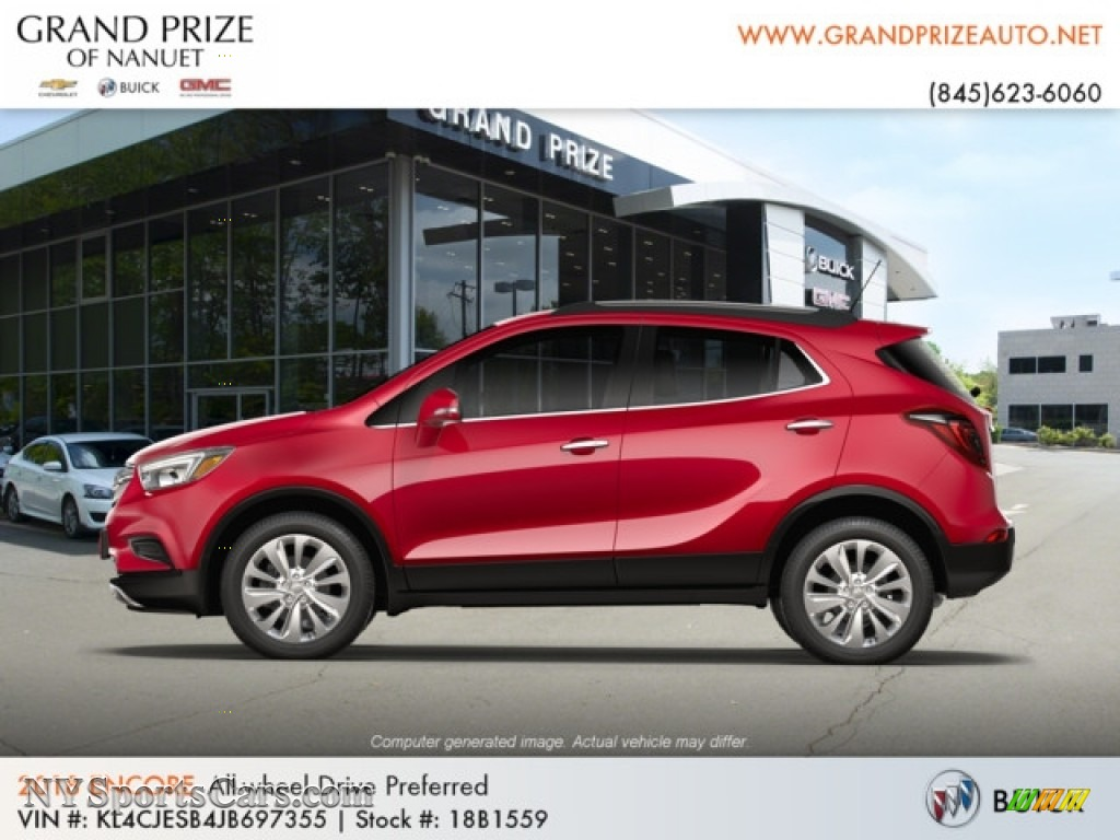 2018 Encore Preferred AWD - Winterberry Red Metallic / Ebony photo #2