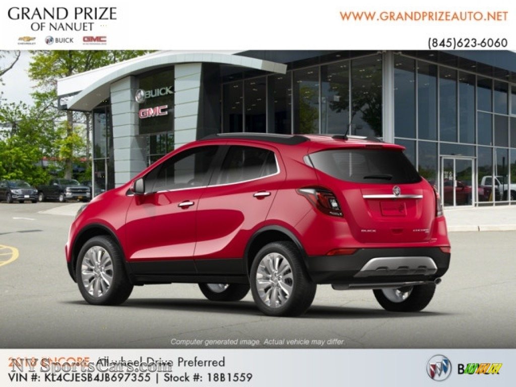 2018 Encore Preferred AWD - Winterberry Red Metallic / Ebony photo #3