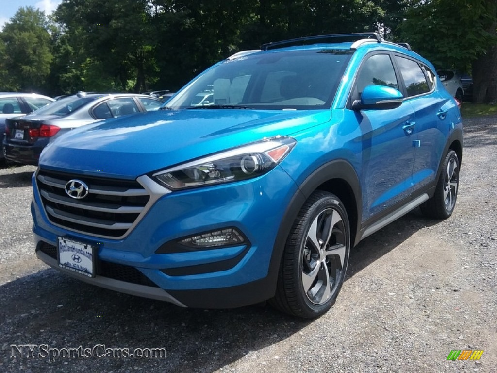 2018 Tucson Sport AWD - Caribbean Blue / Black photo #1