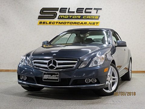 Steel Grey Metallic 2011 Mercedes-Benz E 350 Cabriolet