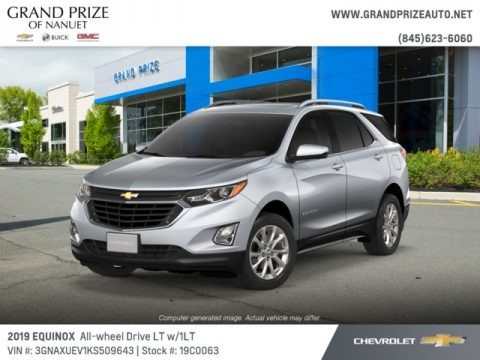 Silver Ice Metallic 2019 Chevrolet Equinox LT AWD