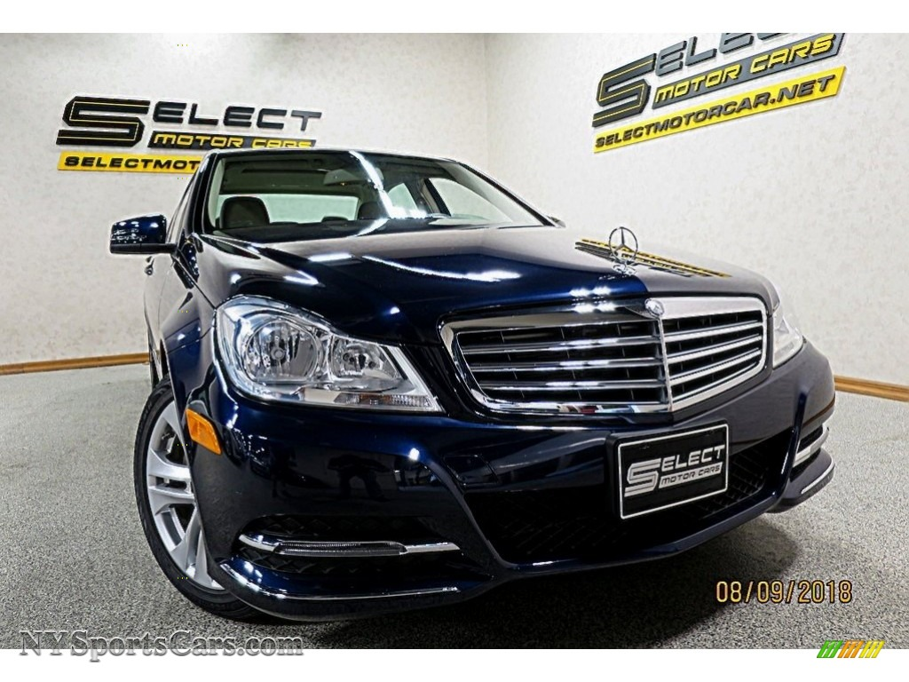 2014 C 300 4Matic Luxury - Lunar Blue Metallic / Sahara Beige/Black photo #5
