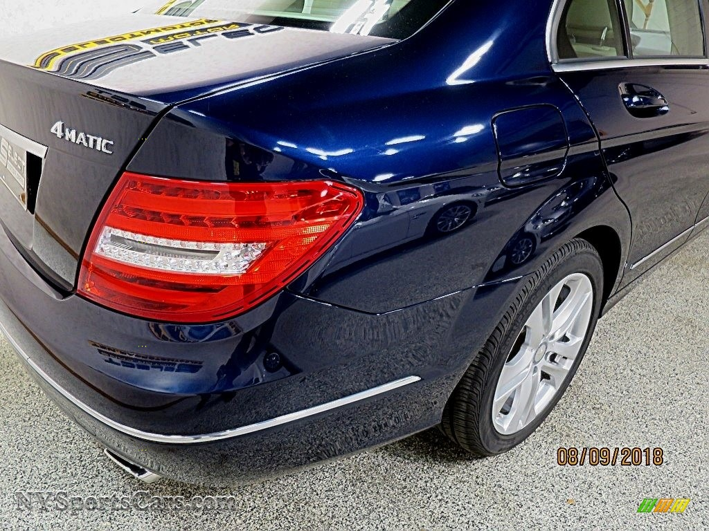 2014 C 300 4Matic Luxury - Lunar Blue Metallic / Sahara Beige/Black photo #10