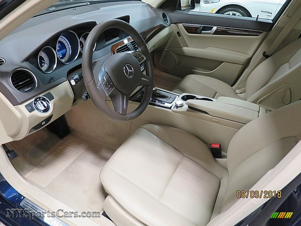 2014 C 300 4Matic Luxury - Lunar Blue Metallic / Sahara Beige/Black photo #11